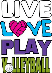 Live love play volleyball design