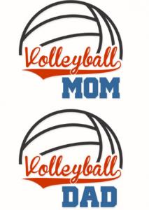 Volleyball mum volleyball dad